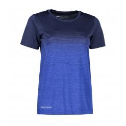 G11024 Woman seamless s/s T-shirt   striped