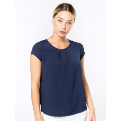K5002 Ladies' short-sleeved crepe blouse