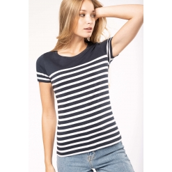 K3034 Ladies' Organic crew neck sailor T-shirt