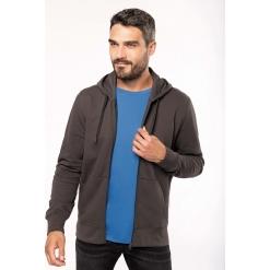 K4030 Mens eco-friendly zip-through hoodie