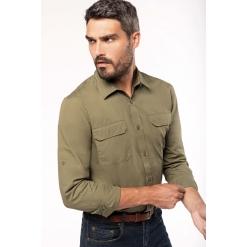 K590 Men's long-sleeved safari shirt