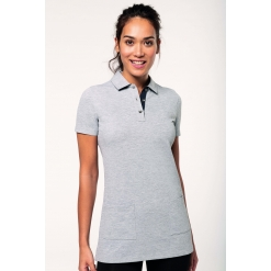 WK209 Ladies' short-sleeved longline polo shirt