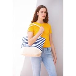 KI0283 Jute canvas duffel shopping bag