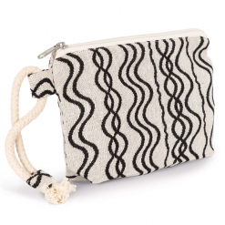KI5704 Recycled zipped pouch - Wavy pattern