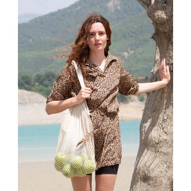 KI0285 Cotton mesh grocery bag