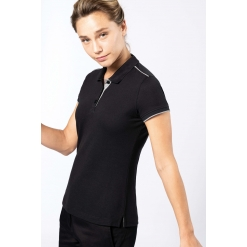 WK271 Ladies' short-sleeved contrasting DayToDay polo shirt