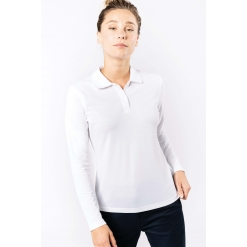 WK277 Ladies' long-sleeved polo shirt