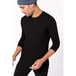 K3016 Men's long-sleeved Crew neck t-shirt