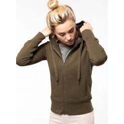 K485 Kariban Ladies' Organic Zipped Hoodie