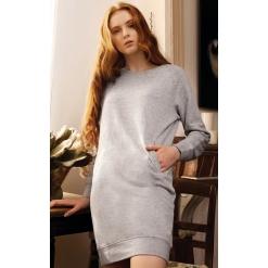K493 Organic fleece lounge dress