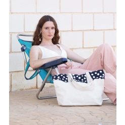 KI0286 Polka dot shopping bag