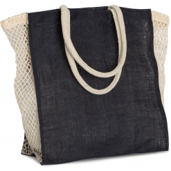 KI0281 Shopping bag with mesh gusset