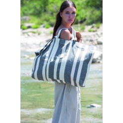KI5214 Recycled hold-all bag - Striped pattern